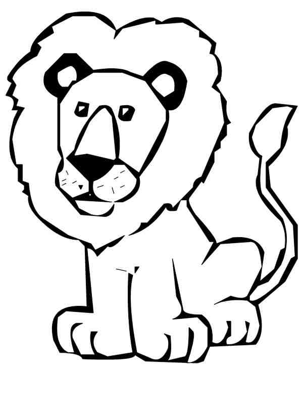 604x817 Black And White Lion Clip Art