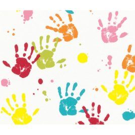 268x268 Handprint Border Clipartsco Pictures To Print For Children In Kids