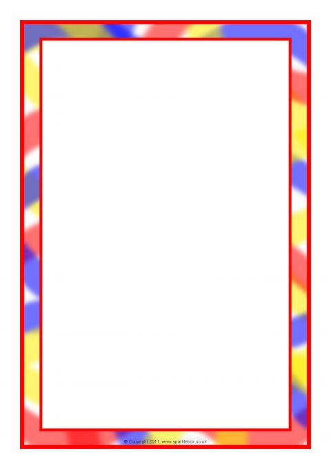 480x679 Themed A4 Page Borders For Kids, Editable Writing Frames