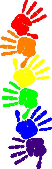 180x584 Handprint Clipart Preschool