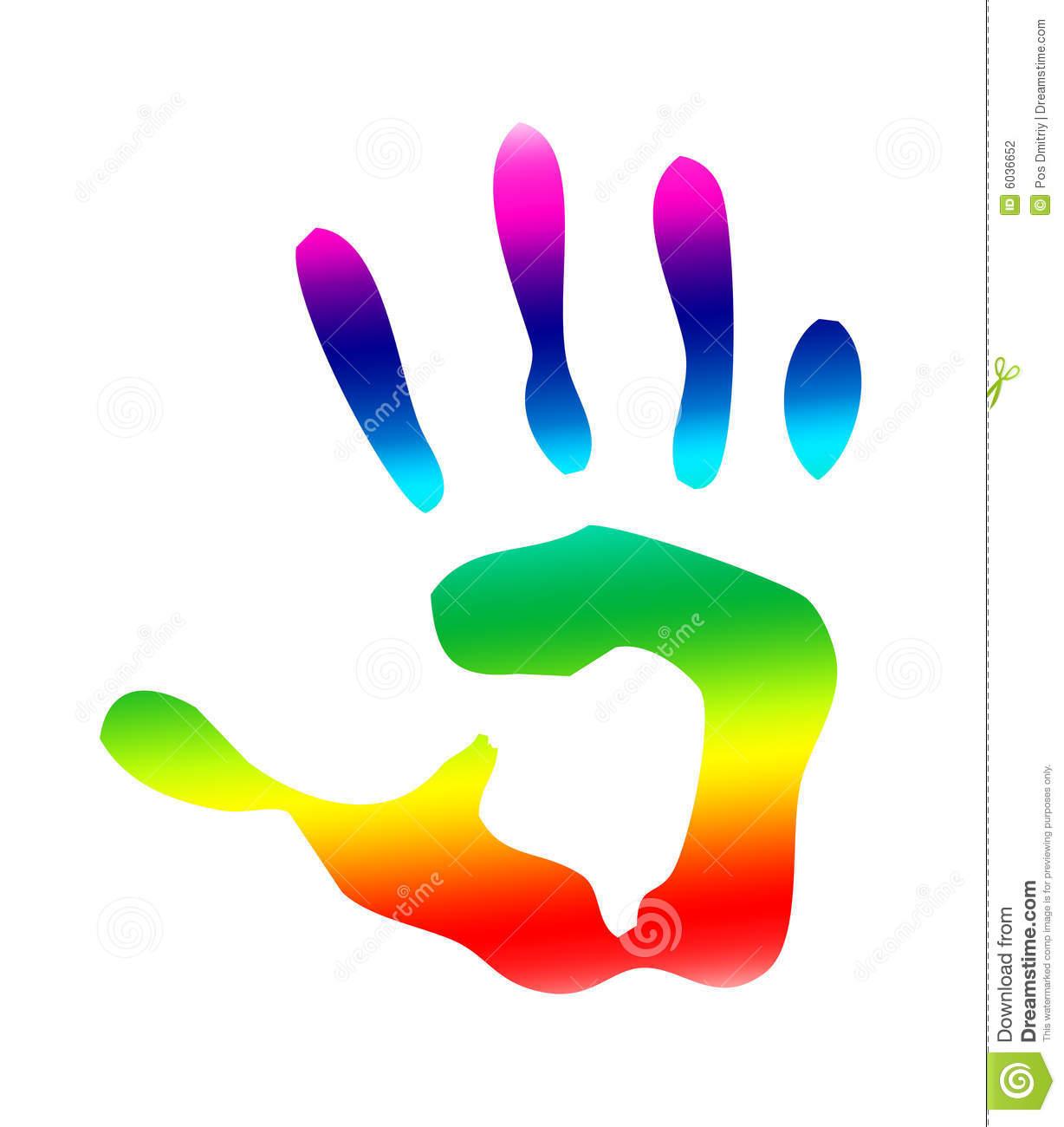 1228x1300 Rainbow Clipart Handprint