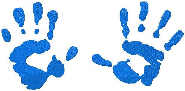 617x303 Baby Handprints Clipart
