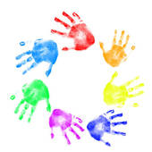 170x170 Clip Art Of Handprints In Different Colors K5187332