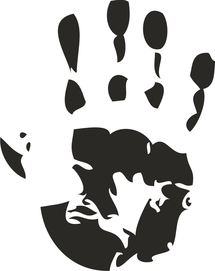 721x910 Gray Clipart Handprint