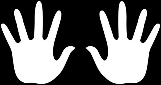 550x293 Handprint Clipart Black And White