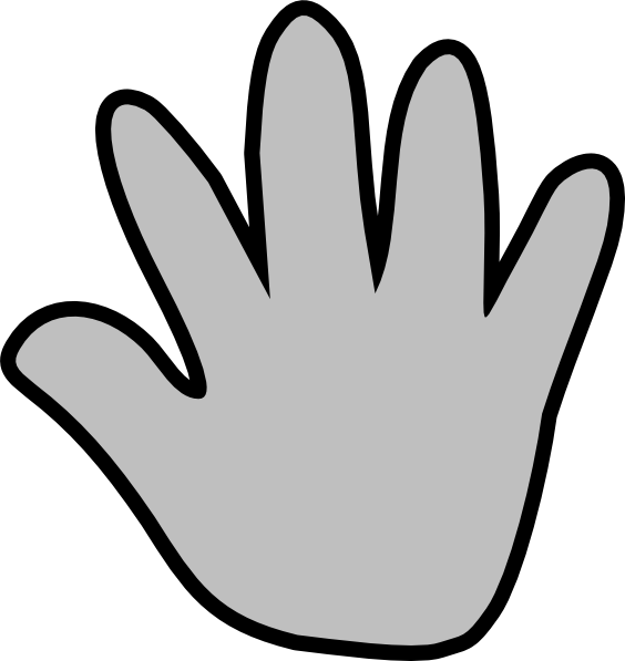 564x597 Handprint Clipart Two Hand