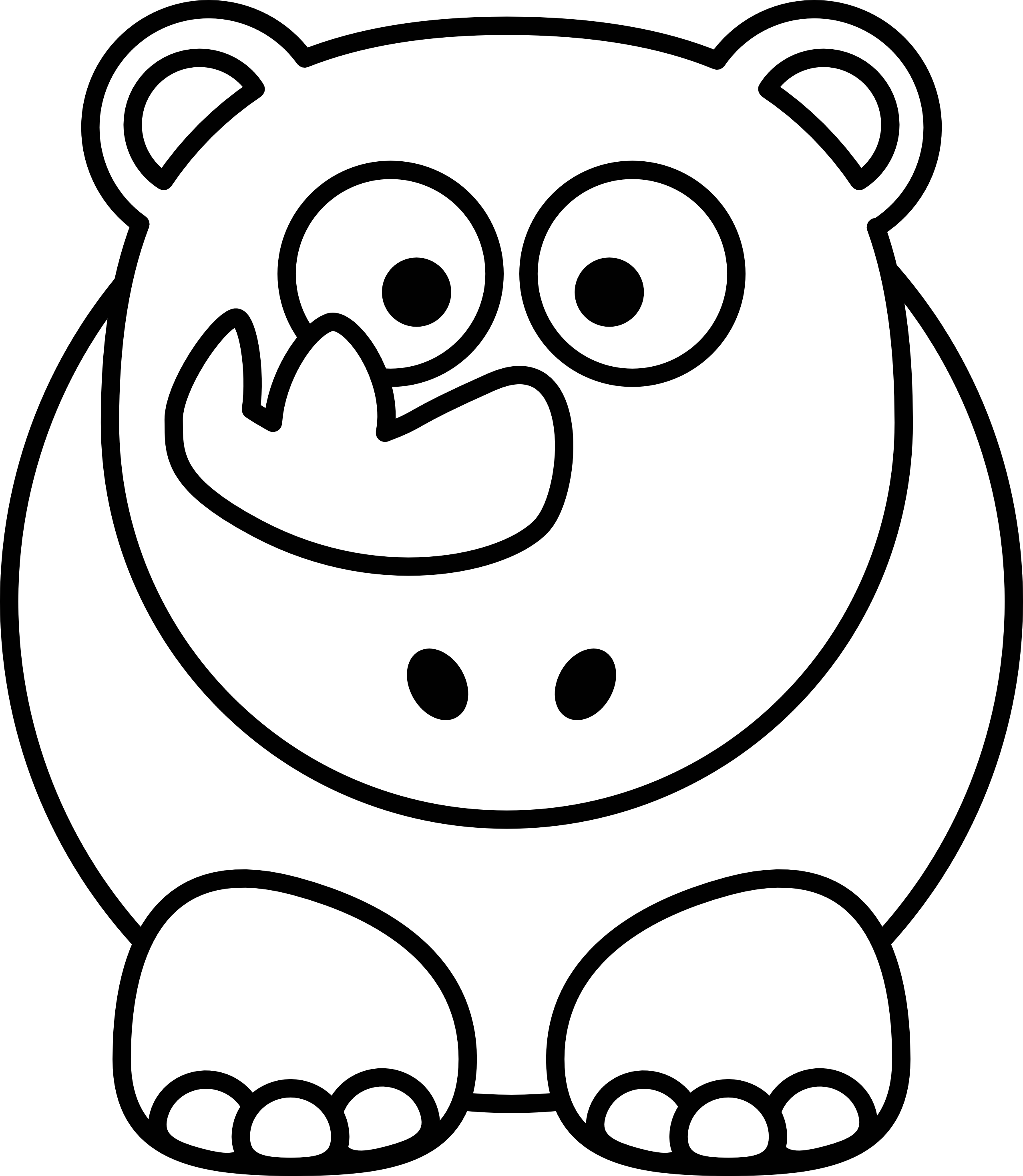 2555x2938 Stuffed Animal Clipart Black And White