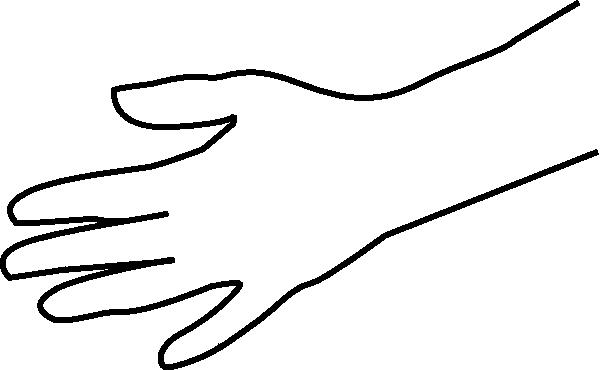 600x370 Black Amp White Clipart Hand