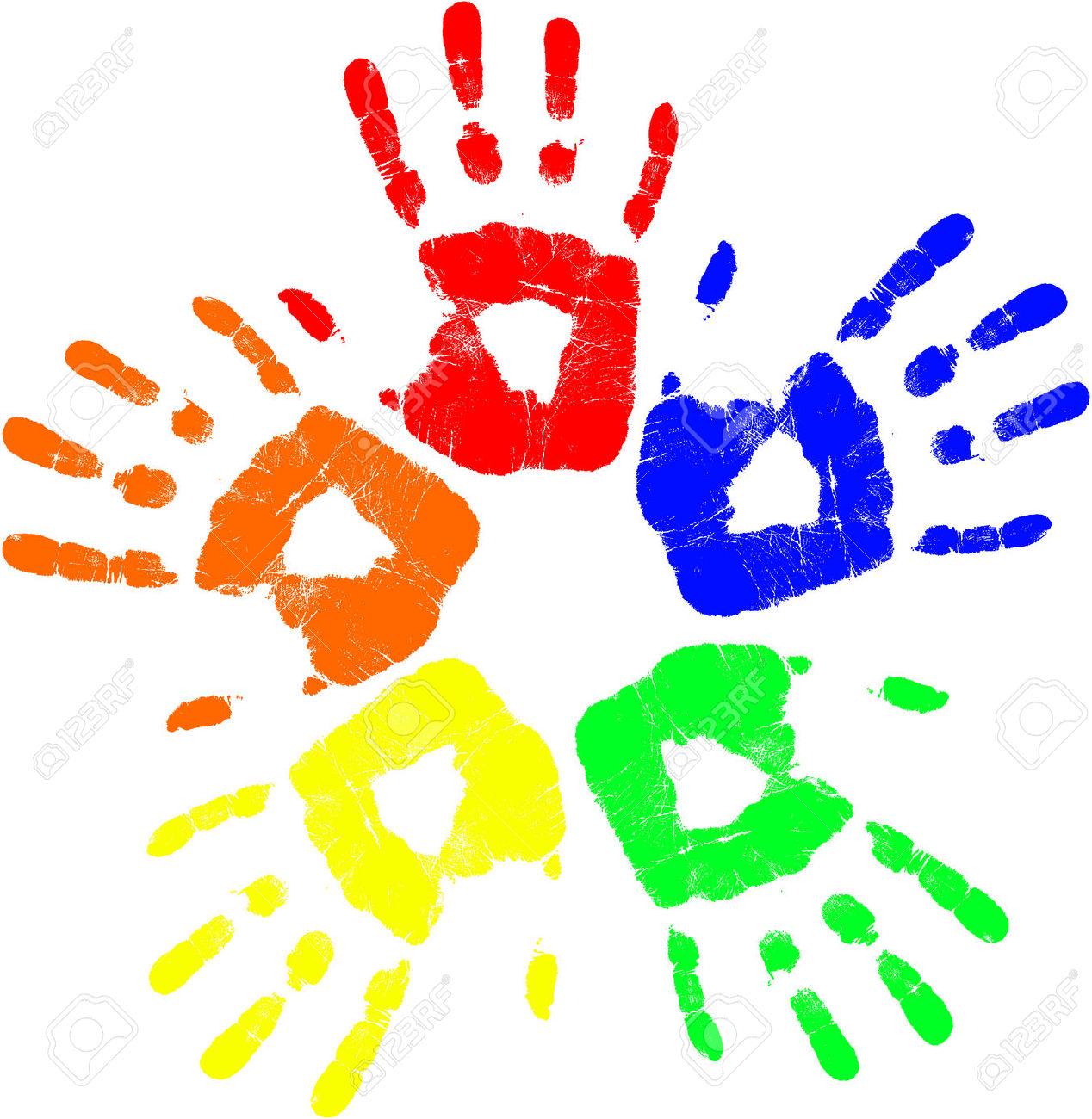 1268x1300 Handprint Clipart Colored