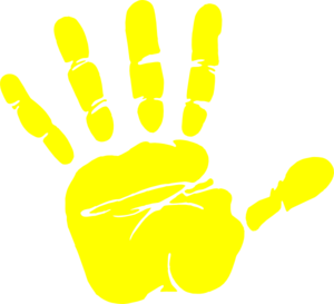 300x273 Handprint Clipart Hand Painting
