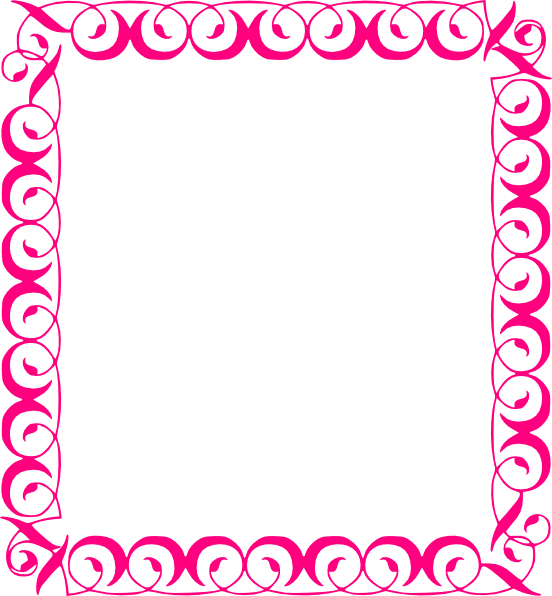 552x596 Pink Floral Borders Stylish,pink,border Clip Art