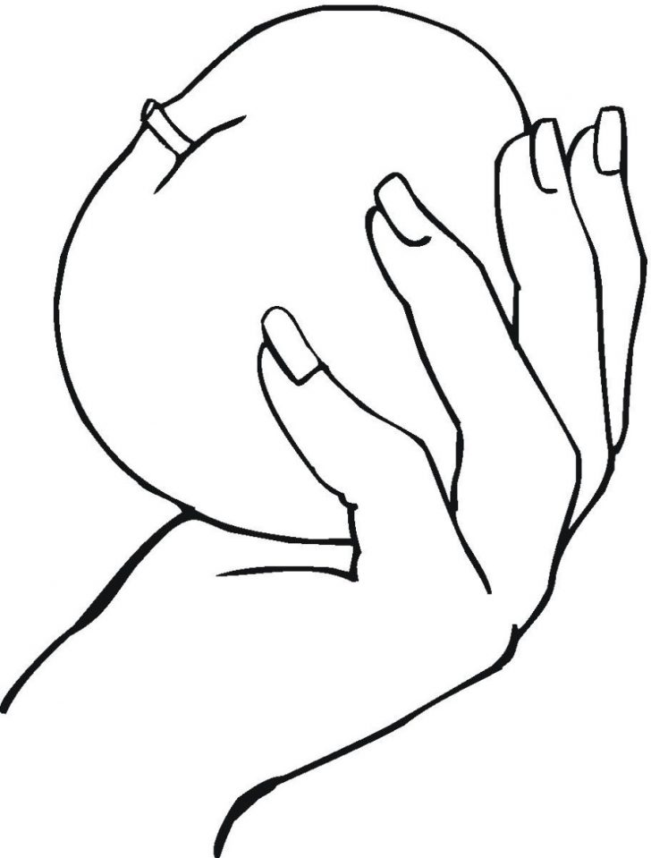728x959 Handprint Coloring Page Online Handprint Coloring Page Handprint