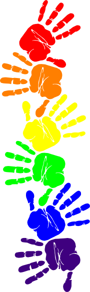 180x584 Handprint Clipart Border