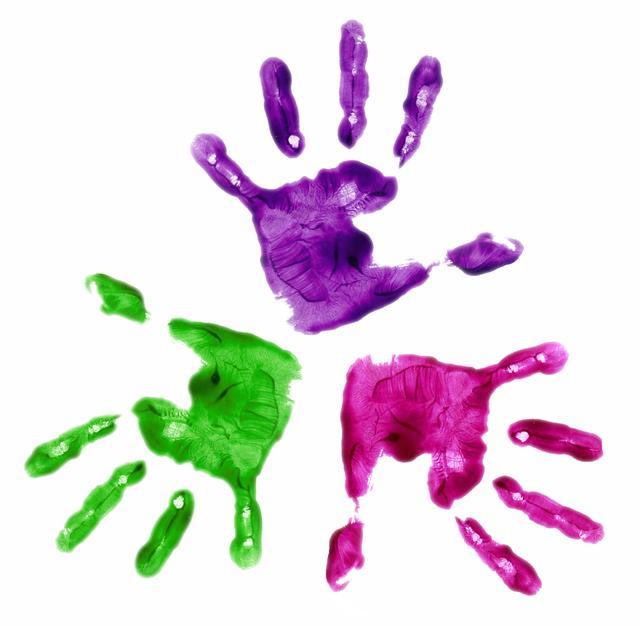 640x626 Handprint Clipart Paint