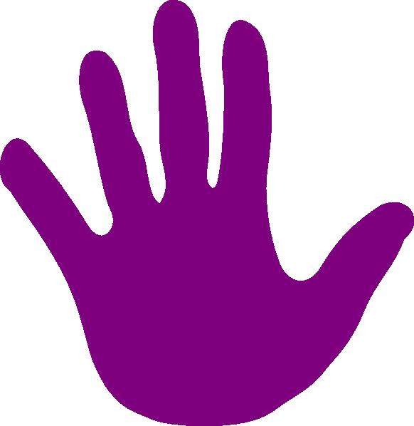 582x598 Handprint Clipart Purple