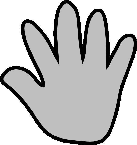 564x597 Gray Handprint Clip Art