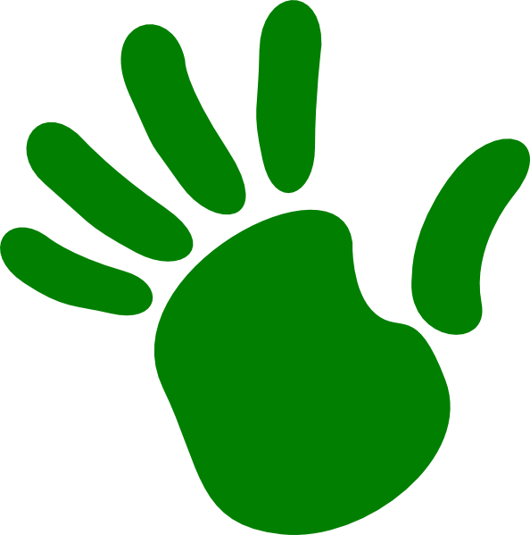 594x599 Left Handprint Clipart