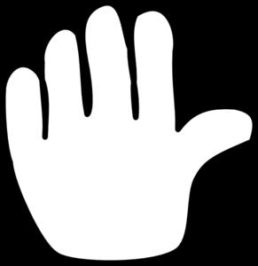 291x300 Hand Outline Clip Art