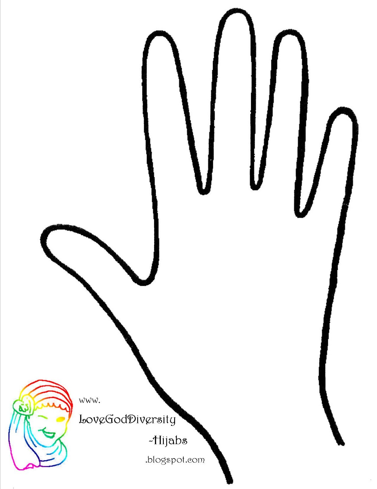 graphic regarding Hand Printable titled Handprint Template Cost-free obtain simplest Handprint Template