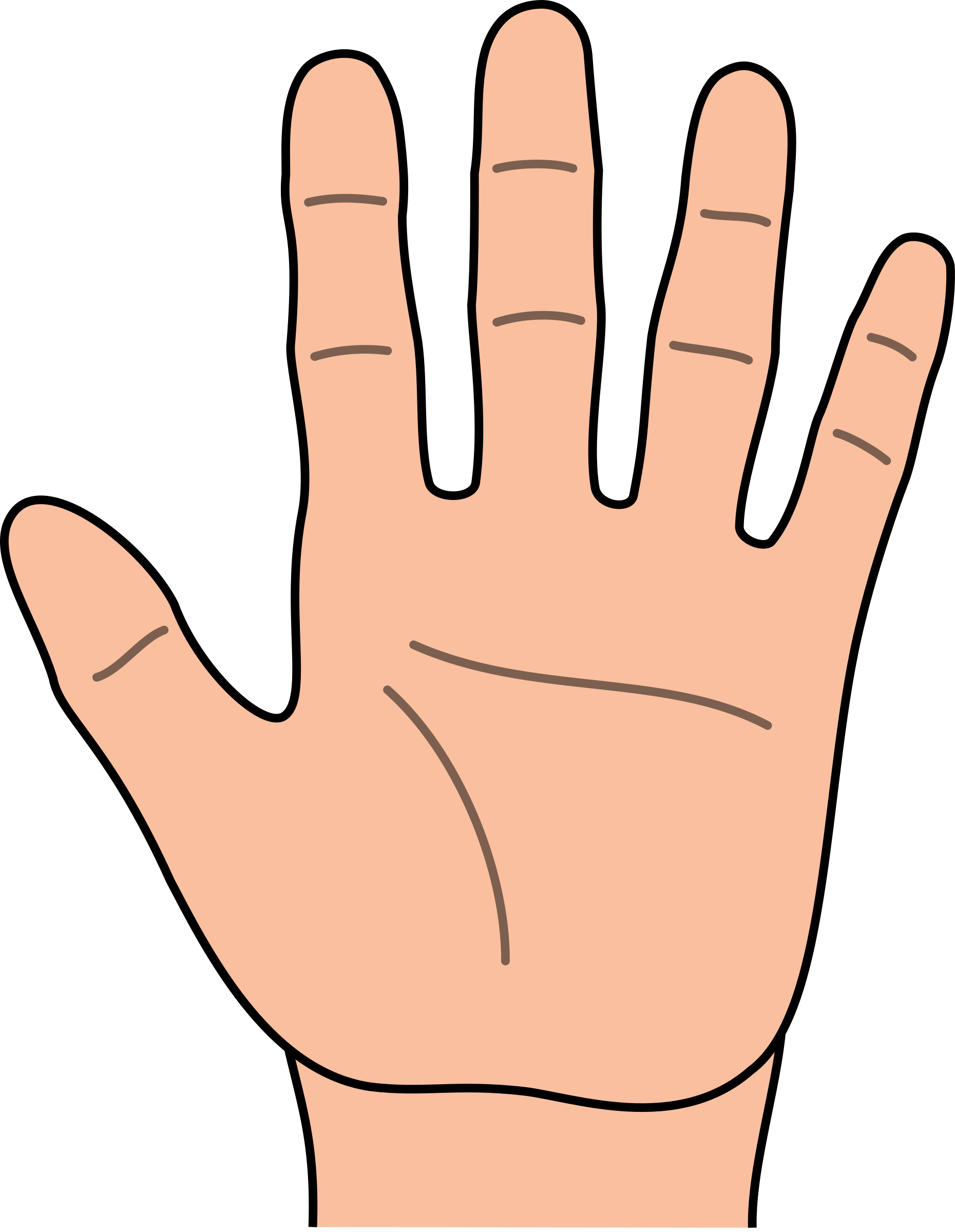 1860x2400 Hand outline template printable clipart 4 –