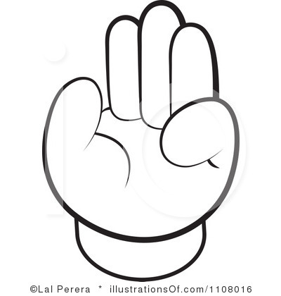 400x420 Handprint Outline Clipart Free