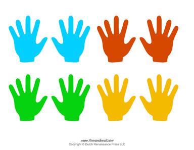 384x297 Blank Hand Template Printables Handprint Templates