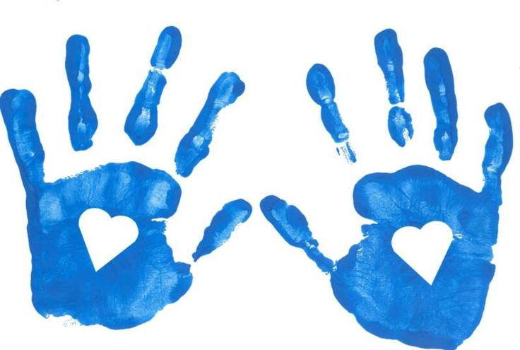736x495 Handprint Heart Clipart