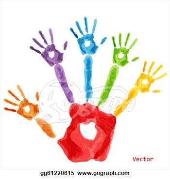 350x370 Handprint Heart Preschool Clipart