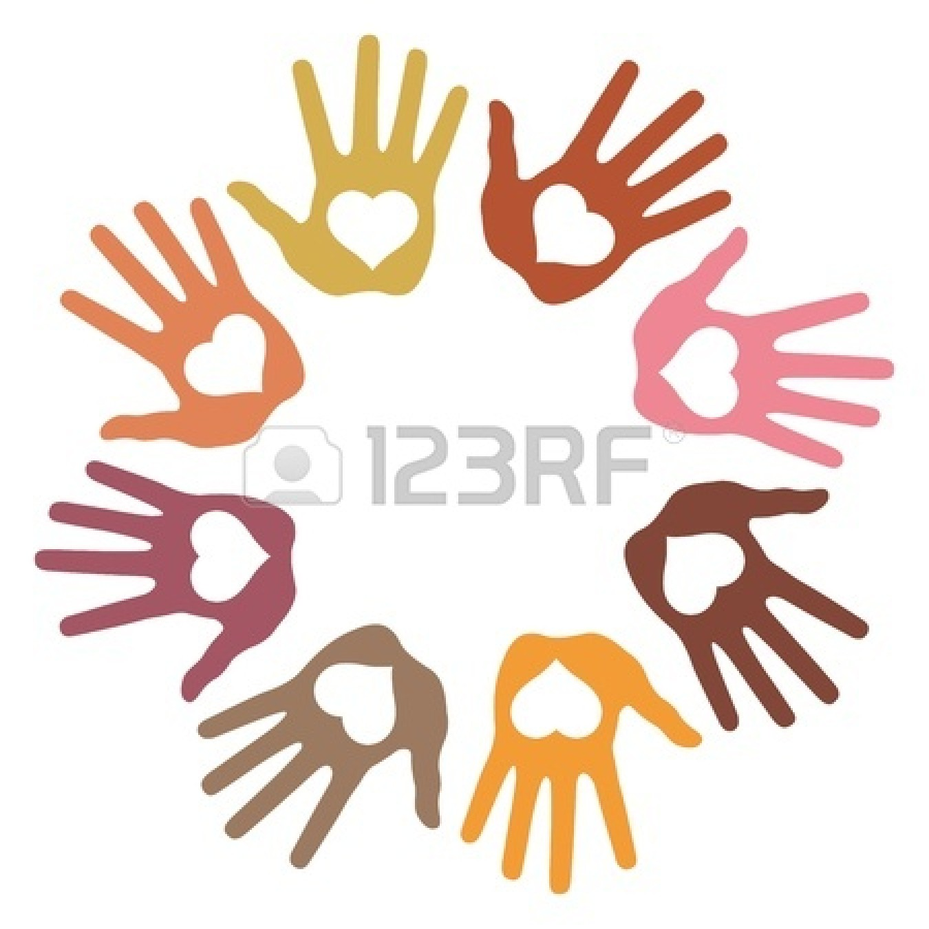 1350x1350 Handprint Clipart Love