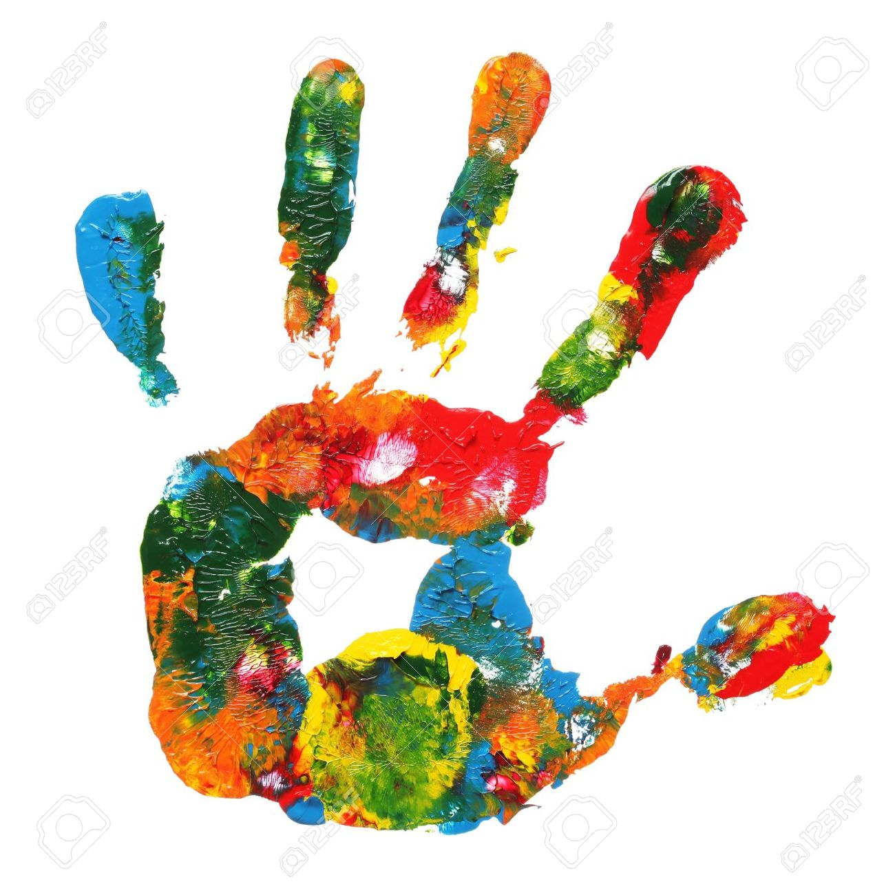 1300x1300 Handprint Clipart Paint