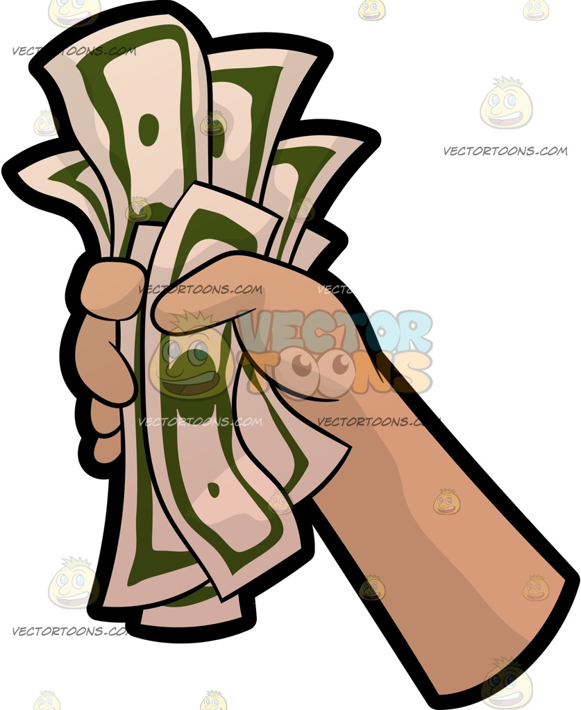 837x1024 A Hand Holding A Fist Full Of Money Hand Holding