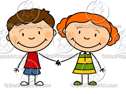 432x324 Cartoon Boy And Girl Holding Hands Clip Art Boy And Girl Holding