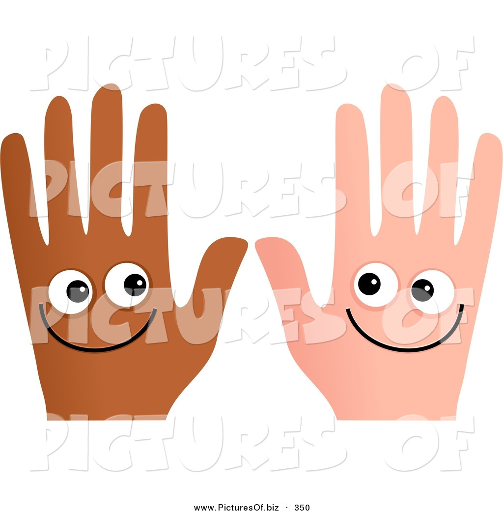 1024x1044 Clipart Of A Pair Of Happy And Different Hands Smiling By Prawny