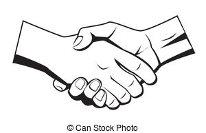 300x193 Hand Black And White Shaking Hands Clipart Black And White