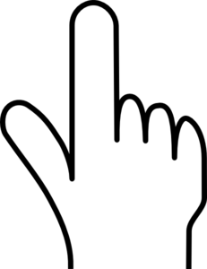 231x300 Black And White Pointing Hand Clipart