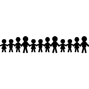 300x300 Holding Hands Clipart Black And White