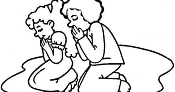 600x315 Prayer Black And White Clipart