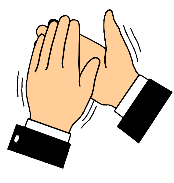 570x597 Free Clapping Hands Clip Art