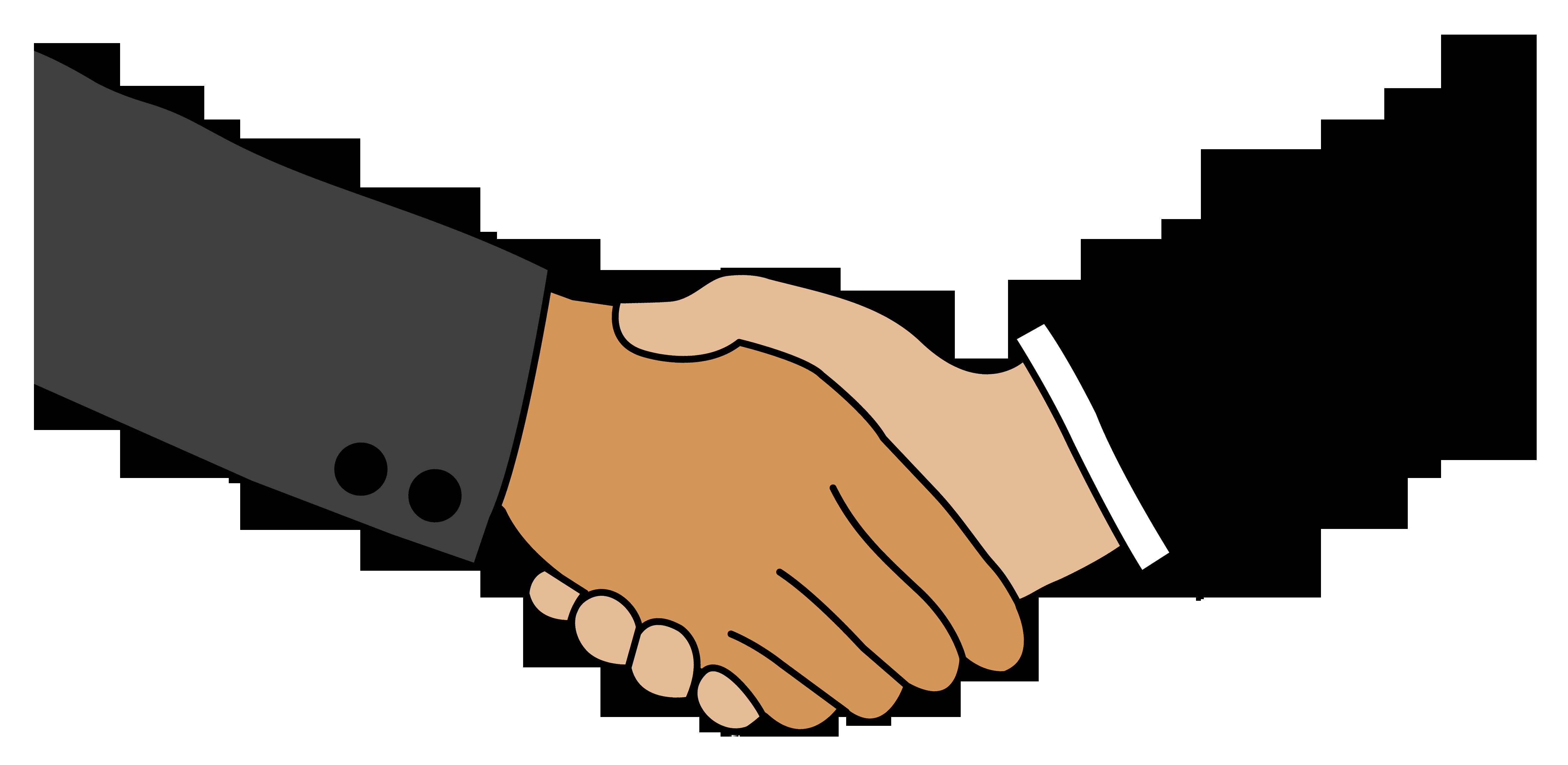 4805x2343 Business Handshake Free Clip Art