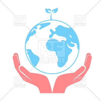 399x400 Concept Of Saving The Earth, Hands Holding Globe Royalty Free