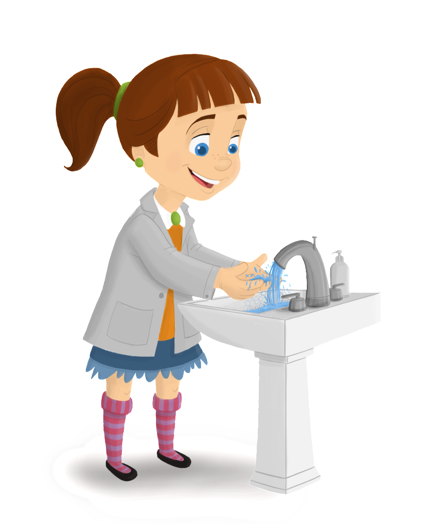 874x1024 Hand Washing Hands 2 Clip Art Image