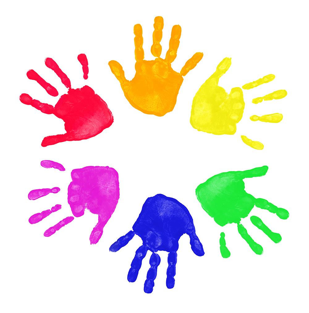 1000x1013 Painted Hands Clipart