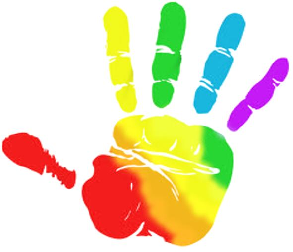 591x508 Rainbow Hands Clipart