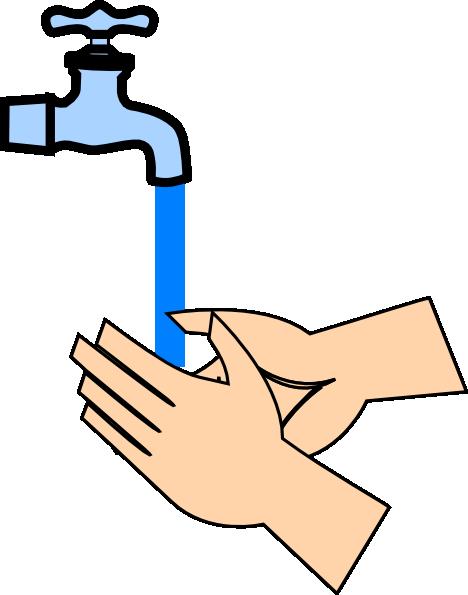 468x595 Rinsing Hands Clip Art