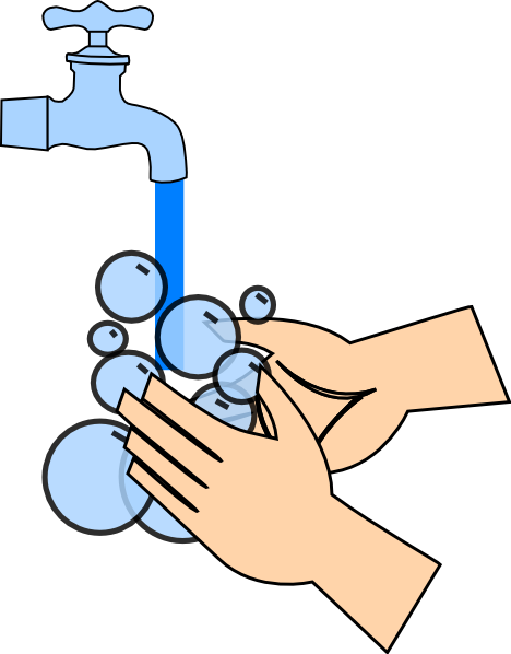 468x598 Washing Hands Clip Art