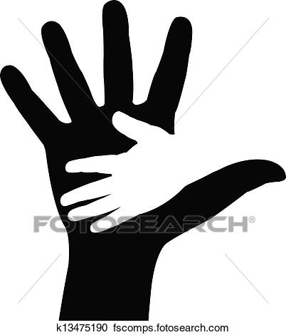 402x470 Clipart Of Helping Hands. Vector Illustration K13475190