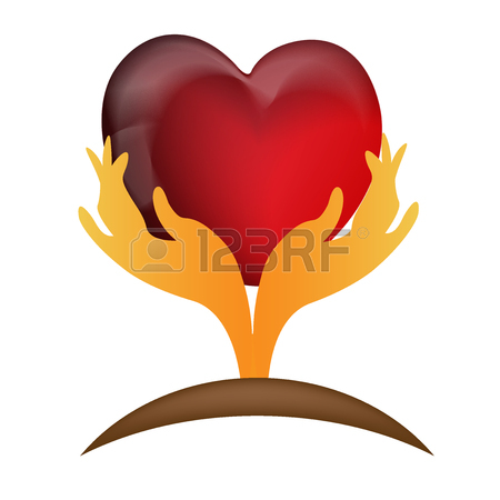 450x450 Hand Caring A Heart Icon Logo Vector Desing Royalty Free Cliparts