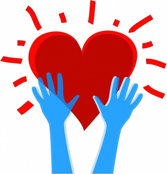 575x600 Heart In Hands Free Vector In Adobe Illustrator Ai ( Ai