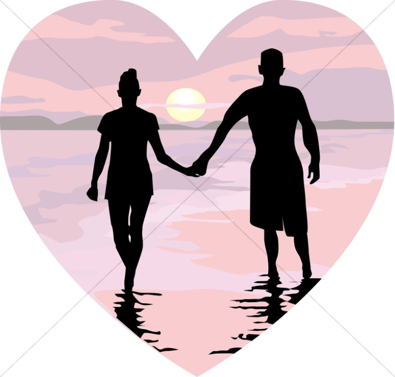 776x740 Holding Hands In Pink Sunset Heart Christian Heart Clipart
