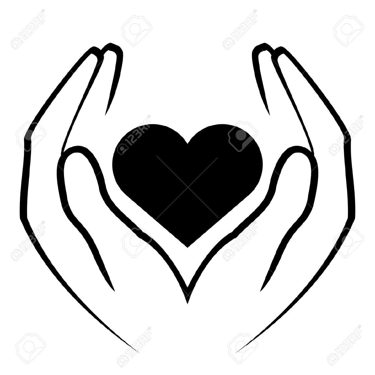 1300x1300 Hand Heart Clipart